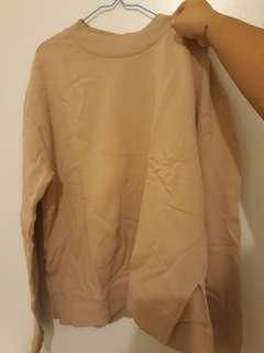 H&M Nude Pink Oversized Sweater