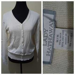 WA941 Lady Hathaway Light Beige Cardigan - See pics for Measurements and flaw
