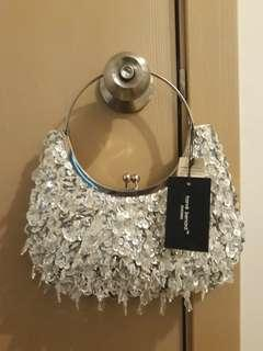 REPRICED! Harve Benard Silver Night Bag