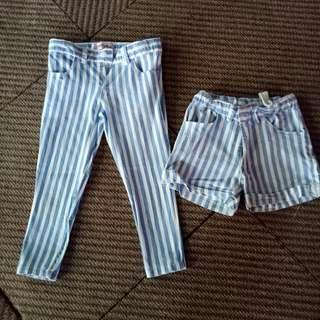 Stripe short n pants (200php for 2) TWINNIE for ate anf bunso