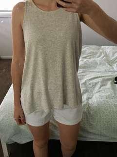 Seed grey sleeveless top XS