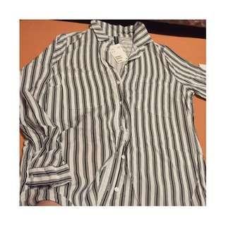 (全新含運)H&M簡約修身襯衫