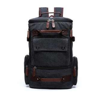 Long Canvas Bag(20% leather)