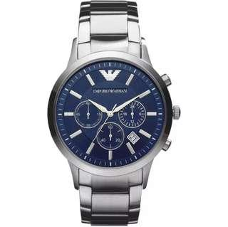 [IN STOCK] Emporio Armani Chronograph Men's Silver Stainless Steel Watch
