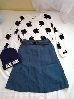 Apple sweater set