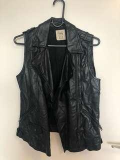 Zara Trafalic Leather Vest