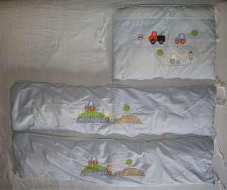 Baby cot/crib bumper and mosquito net