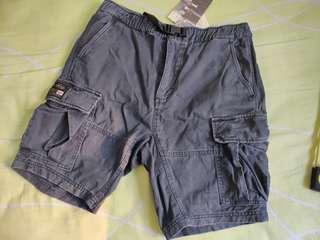 男裝重洗水深灰色軍褲 men army shorts