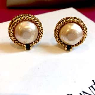Authentic CHANEL Classic Mabe Pearl Earrings