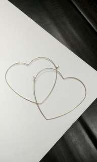 ALDO Heart Hoop Earrings