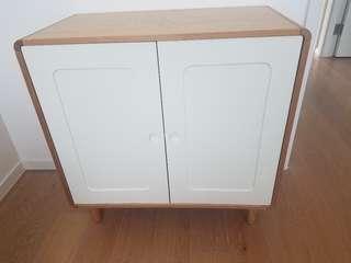 全新儲物小白木櫃