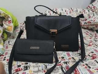 tass jalan + dompet pouch
