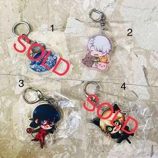 Anime Keychains (Misc artists)