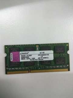 Kingston 2GB DDR3 Laptop Ram