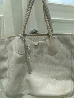 Fossil sydney shopper tote bag elephant grey with key. Original. Tas fossil preloved murah