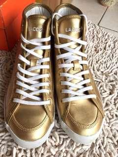 Lacoste High-top trainers - gold