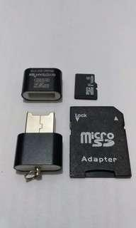 16gb SD Card Class 10 with Reader and Adapter
