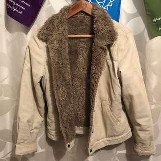 Vintage fur corduroy jacket