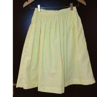Cotton A-line skirt 裙