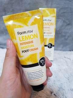 Lemon foot lotion