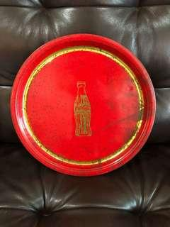 Rare gold coke tray Malaysia 1980