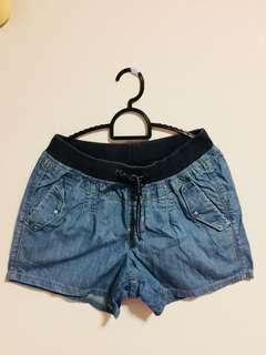 Denim tie Shorts