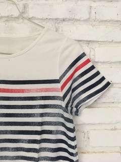 T-shirt Dress / Stripes / Terusan / Garis-garis / Buatan Jepang