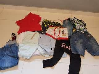 Kids clothes 58 pieces Gap Mickey Fred Perry Jeans e5ctc