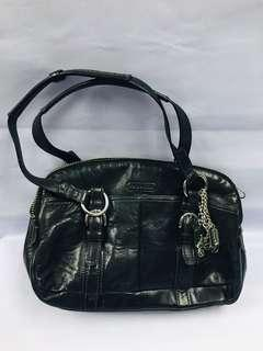 ORIGINAL COACH 12695  Soho Charms Black Leather Satchel