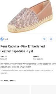 Rene caovilla suede embellished double sole espadrilles