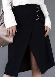 Hansen & Gretel size 8 wrap black skirt