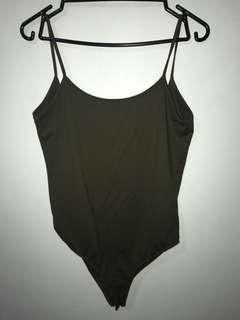 Zara khaki bodysuit