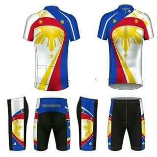 Philippine flag cycling jersey set
