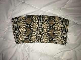 PLT snakeskin bandeau