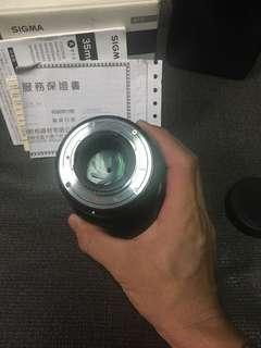 🚚 Sigma 35mm F1.4 art for nikon