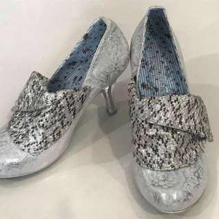 Irregular choice silver shoes, 39