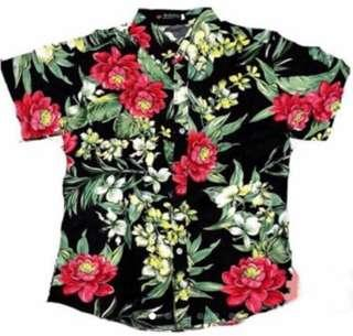 Mens Floral Polo