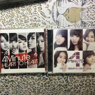 4MINUTE Heart to Heart & First Dreams Come True Japan Albums with PC