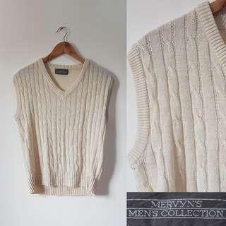 Mervyn's Cream Knitted Vest