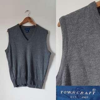 Town Craft Gray Knitted Vest