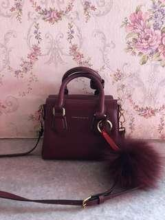 Charles & Keith bag maroon