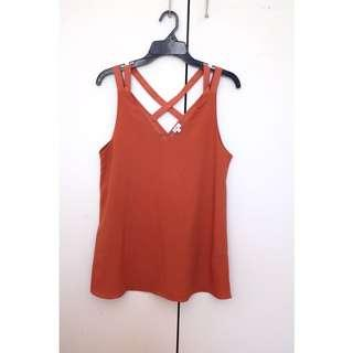 River Island Tan Orange Top
