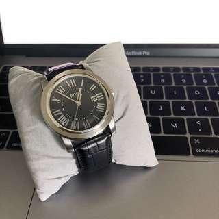 Hugo Boss Italian Leather Embossed Leather Dress Watch