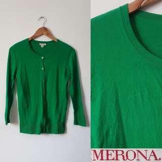 Merona Green Cardigan