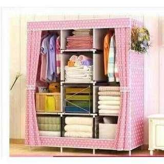 NEW Large Clothes cabinet storage - pink polka dots