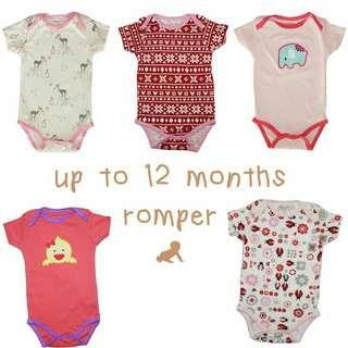 1 set baby girl jumpers (isi 5 pcs)