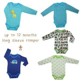 long baby boy jumpers 1 set (isi 5pcs)