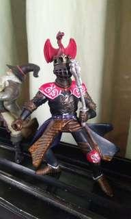 Original Papo Midieval Knight and The Sorcerer Action figures