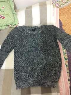Black and Grey Marble Knit Sweater