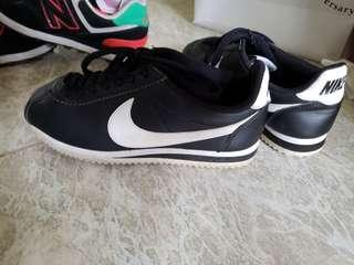100%Real Nike 波鞋 Classic Cortez  Women 女鞋 黑色 US 36 23cm